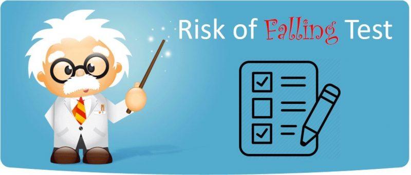 Risk of falling test